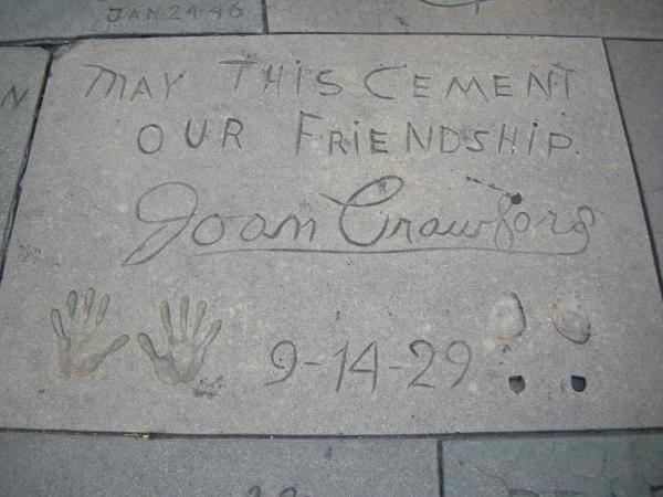 Grauman s chinese theatre joan crawford