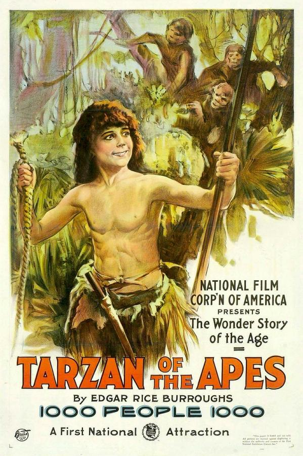 Image tarzan of the apes poster 1918