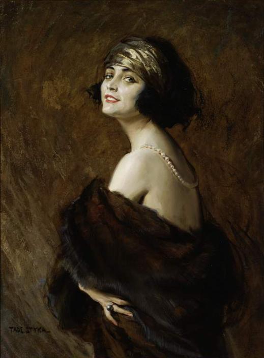 Tadeusz styka portret poli negri 1923 nowy jork olej na tekturze 103 x 76 cm muzeum narodowe w warszawie cyfrowe mnw bez ramki